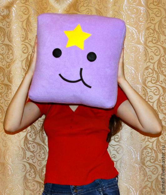 Подушка Пупырка - Adventure Time Флисовый уголок.