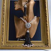 Украшения handmade. Livemaster - original item Necklace tassel Sotuar pearls class AAA black spinel. Author`s work. Handmade.