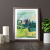 """Картины и панно ручной работы. Ярмарка Мастеров - ручная работа Акварель """"Тоскана"""". Картина. Handmade."""