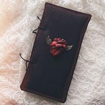"Канцелярские товары ручной работы. Ярмарка Мастеров - ручная работа Блокнот ""Black Heart"".. Handmade."