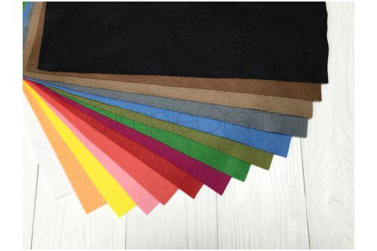 Валяние ручной работы. Ярмарка Мастеров - ручная работа. Купить ПОЛУШЕРСТЯНОЙ 14 (набор полушерстяного фетра) 14 разных цветов. Handmade.