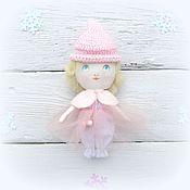 Подарки к праздникам ручной работы. Ярмарка Мастеров - ручная работа Кукла текстильная зимняя фея снежинка. Handmade.
