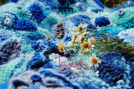 Shawls & Stoles handmade. Livemaster - handmade. Buy shawl 'memories of the sea'.Original gift, sea