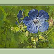 Картины и панно handmade. Livemaster - original item Oil painting flower gift wild flower. Handmade.