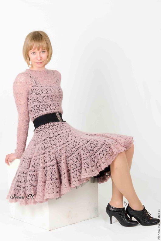 Платья ручной работы. Ярмарка Мастеров - ручная работа. Купить платье цвета пыльной розы. Handmade. Бледно-розовый