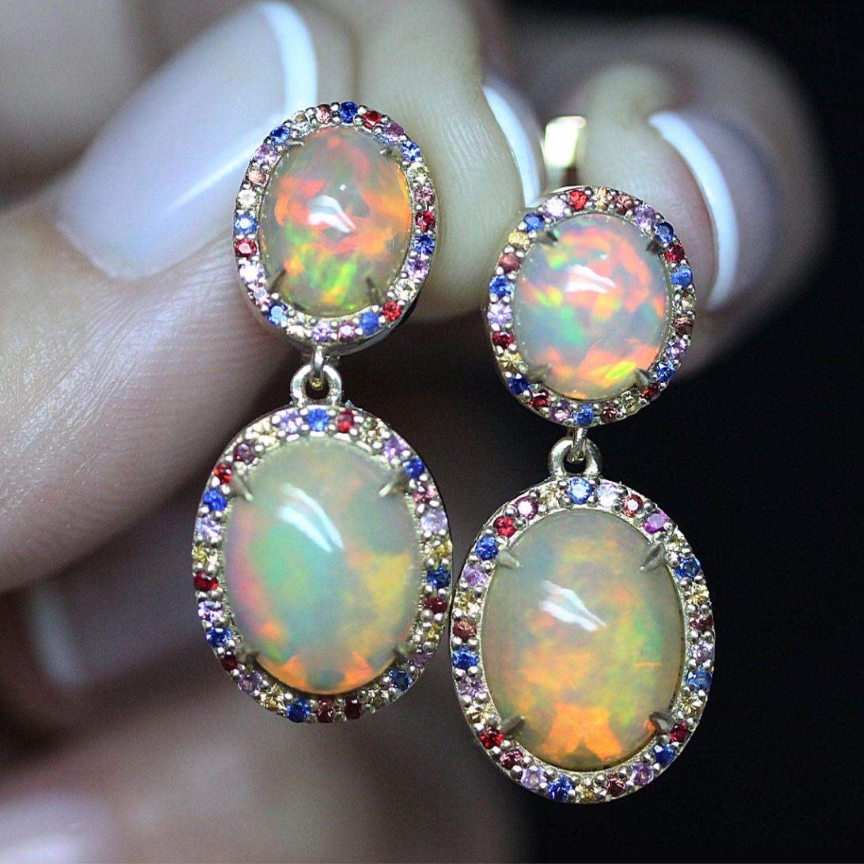 Earrings 'Venice' with Opals, Earrings, Moscow,  Фото №1
