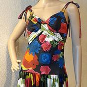 Одежда ручной работы. Ярмарка Мастеров - ручная работа Летний сарафан с драпировкой на груди. Handmade.