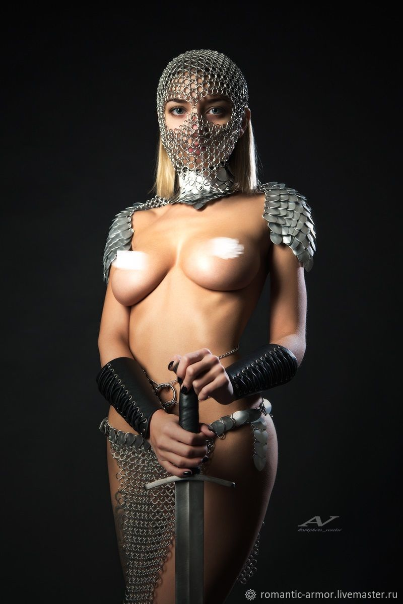 Women nude chainmail