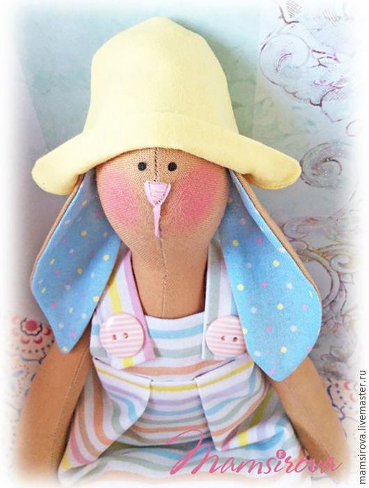 Куклы Тильды ручной работы. Ярмарка Мастеров - ручная работа. Купить Тильда Пасхальный заяц. Handmade. Голубой, тильда, игрушка