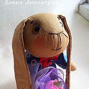 Куклы и игрушки ручной работы. Ярмарка Мастеров - ручная работа Кофейный зайчик с розой. Handmade.