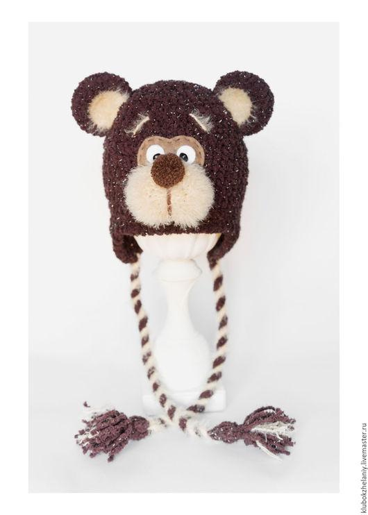 """Для новорожденных, ручной работы. Ярмарка Мастеров - ручная работа. Купить Шапочка """"Мишка"""" для фотосессии новорожденного. Handmade. Шапочка для фотосессии"""