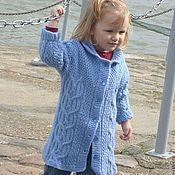 Работы для детей, ручной работы. Ярмарка Мастеров - ручная работа вязаное детское пальто. Handmade.
