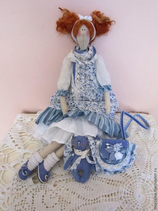 Куклы Тильды ручной работы. Ярмарка Мастеров - ручная работа. Купить Кукла Тильда Джинсовая история. Handmade. Голубой