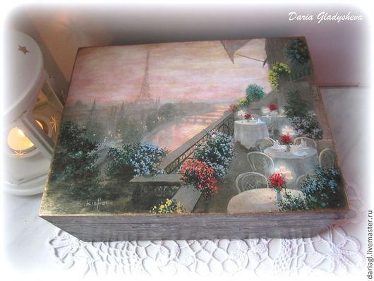 """Кухня ручной работы. Ярмарка Мастеров - ручная работа. Купить Чайная шкатулка """"Парижское очарование"""". Handmade. Чайная коробка, чайная"""