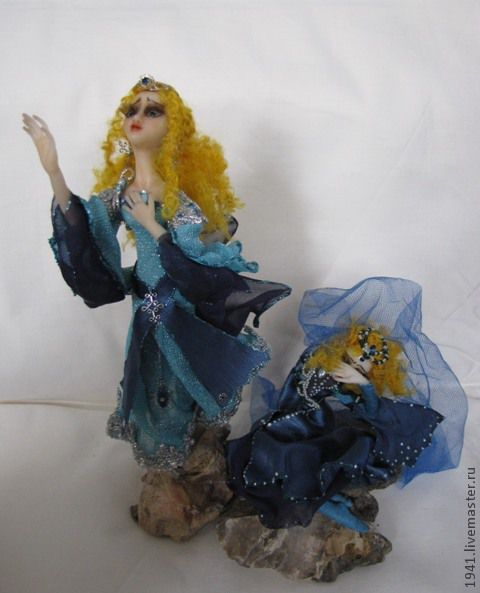 Коллекционные куклы ручной работы. Ярмарка Мастеров - ручная работа. Купить Ветер последней надежды. Handmade. Синий, коллекционная кукла