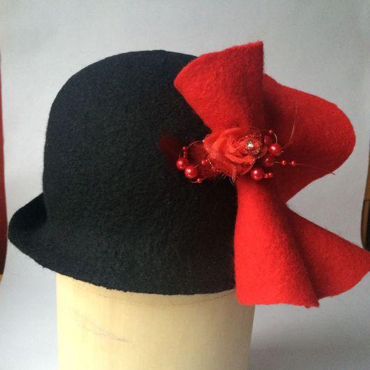 Шляпы ручной работы. Ярмарка Мастеров - ручная работа. Купить Шляпа дамская с цветком и пером. Handmade. Шляпа женская