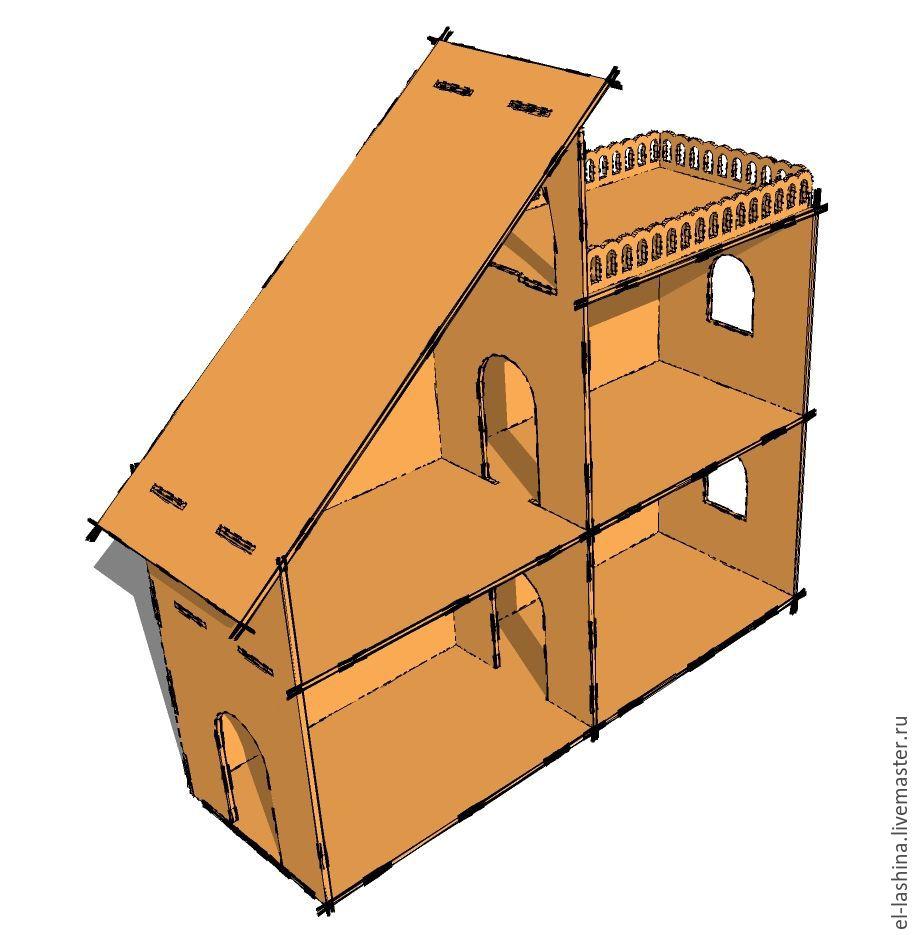 Кукольный домик своими руками с чертежами из фанеры