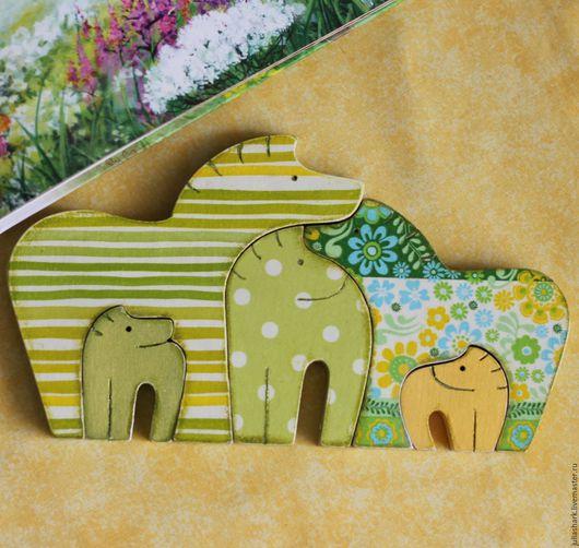 Деревянные игрушки - Пазлы ` Весенние`. Мастерская добрых вещей Юлии Shark `Солнце за пазухой`. Деревянные лошадки. Пазлы из дерева для детей. Паззлы.
