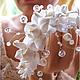 Цветочная диадема для невесты.  Украшения в цветочном стиле. Украшения для праздников и торжеств. Необычные украшения в подарок. Свадебный стиль. Аксессуары для невесты.