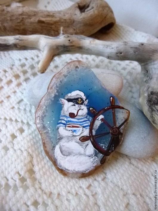 Кулоны, подвески ручной работы. Ярмарка Мастеров - ручная работа. Купить Зарисовки из жизни КофеКота. Часть 2.. Handmade. Голубой