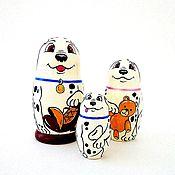Русский стиль ручной работы. Ярмарка Мастеров - ручная работа Матрёшка 3 куклы собачки Далматинцы. Handmade.