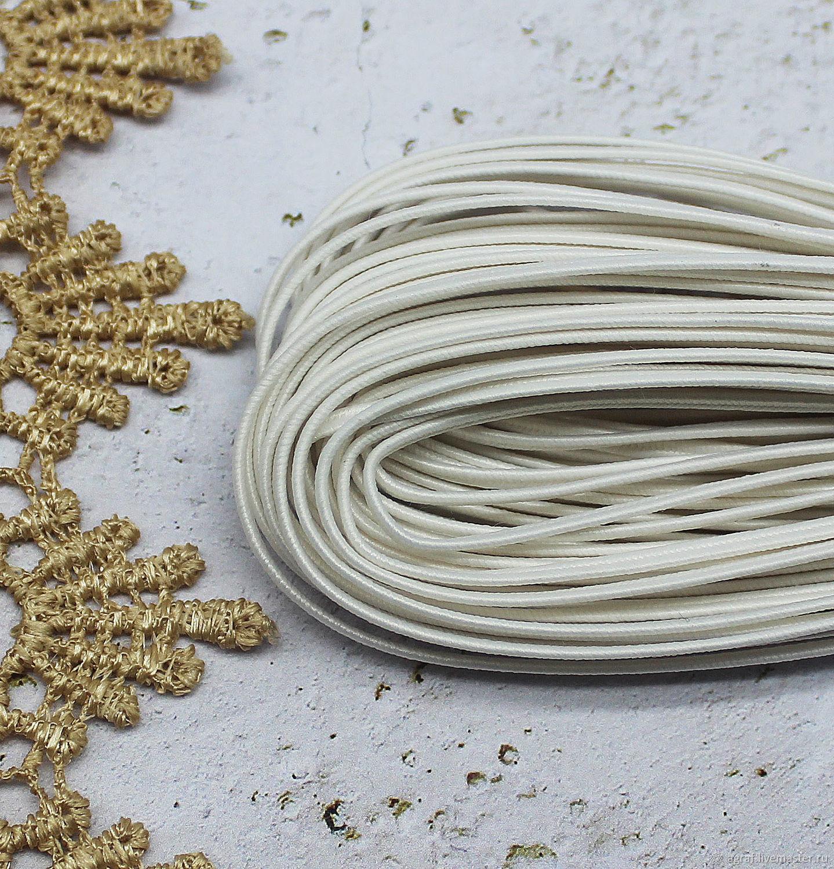 Сутаж белорусский 2,5 мм Белый 1 метр, Шнуры, Соликамск,  Фото №1