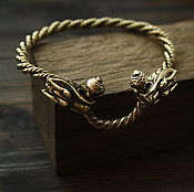 Украшения handmade. Livemaster - original item Bronze bracelet ,Viking bracelet.. Handmade.