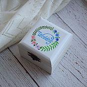 """Свадебный салон ручной работы. Ярмарка Мастеров - ручная работа """"Flower Wed"""" - свадебная шкатулка для обручальныx колец. Handmade."""