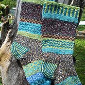 Аксессуары ручной работы. Ярмарка Мастеров - ручная работа жаккардовые носки из твидовой пряжи. Handmade.