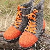 """Обувь ручной работы. Ярмарка Мастеров - ручная работа Ботинки валяные """"Позитив"""". Handmade."""