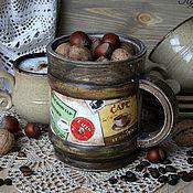 """Для дома и интерьера ручной работы. Ярмарка Мастеров - ручная работа Кружка """"Coffe break"""". Handmade."""