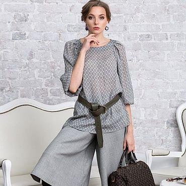 Одежда ручной работы. Ярмарка Мастеров - ручная работа Юбка-брюки из шерсти. Handmade.