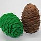 Мыло Шишка кедровая 3D, сувенирное мыло ручной работы