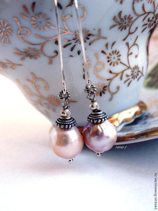 серьги из жемчуга касуми, серьги жемчуг, жемчужные серьги, длинные серьги, из жемчуга, длинные серьги из камней, купить серьги, подарок женщине, ярмарка мастеров, серьги с жемчугом