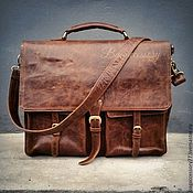 Сумки и аксессуары handmade. Livemaster - original item Briefcase men`s genuine leather. Handmade.
