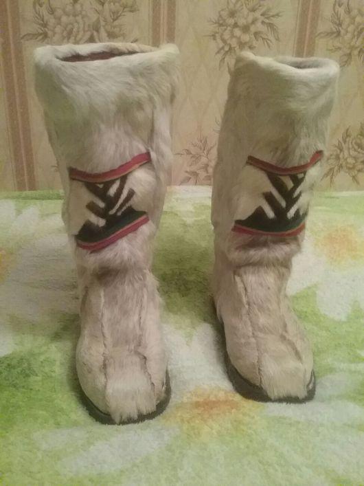 Обувь ручной работы. Ярмарка Мастеров - ручная работа. Купить Бурки из белого оленя.. Handmade. Зимние сапоги, зимняя обувь
