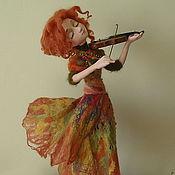 """Куклы и игрушки ручной работы. Ярмарка Мастеров - ручная работа Авторская кукла """" Осенняя соната"""".. Handmade."""