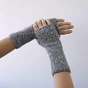 Аксессуары handmade. Livemaster - original item Women`s mittens are gray.. Handmade.