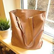 Сумка-тоут ручной работы. Ярмарка Мастеров - ручная работа Tote bag (карамельный, коричневый). Handmade.