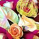 Картины цветов ручной работы. Ярмарка Мастеров - ручная работа. Купить Цветочное пано. Handmade. Полимерная глина, эксклюзивный подарок
