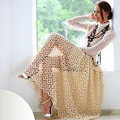 Юбки ручной работы. Ярмарка Мастеров - ручная работа Длинная юбка крючком, кружевная юбка в пол в стиле бохо. Handmade.