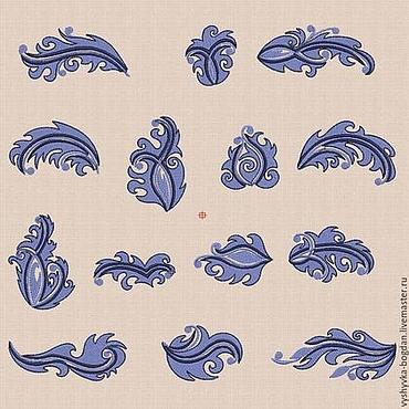 Материалы для творчества ручной работы. Ярмарка Мастеров - ручная работа Дизайн машинной вышивки Листчки 1 bt025. Handmade.