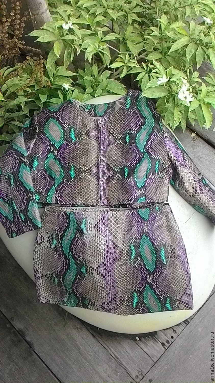 Верхняя одежда ручной работы. Ярмарка Мастеров - ручная работа. Купить комплект из питона. Handmade. Куртка, куртка из питона