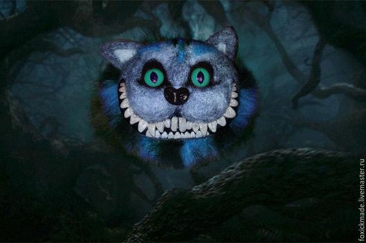 """Броши ручной работы. Ярмарка Мастеров - ручная работа. Купить Брошь """"Чеширский кот"""". Handmade. Разноцветный, подарок, Сухое валяние"""