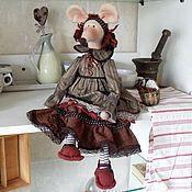 Куклы и игрушки ручной работы. Ярмарка Мастеров - ручная работа Мышка Кофе с корицей. Handmade.