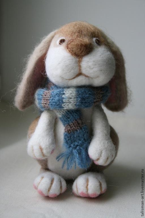 Игрушки животные, ручной работы. Ярмарка Мастеров - ручная работа. Купить Заяц валяный из шерсти. Handmade. Заяц, зайка, серый