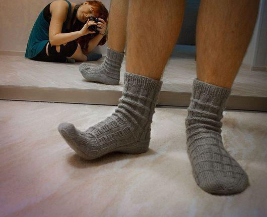 """Носки, Чулки ручной работы. Ярмарка Мастеров - ручная работа. Купить Носки мужские """"Комфорт"""". Handmade. Носки, ручная работа"""