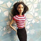 Одежда для кукол ручной работы. Ярмарка Мастеров - ручная работа Одежда для кукол: Ажурная юбка и полосатая блуза. Handmade.