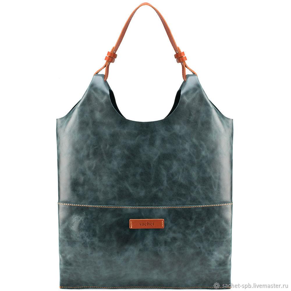 Women's leather bag 'Elsinore' (emerald antique), Classic Bag, St. Petersburg,  Фото №1