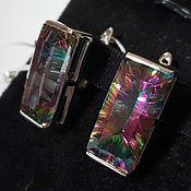 Украшения handmade. Livemaster - original item Silver earrings with quartz 20h10 mm. Handmade.